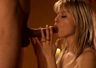 Luxurious Platinum-blonde Blow-job For..