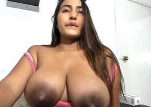 Knockout latina has immense lactating..