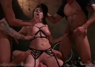 Lea lexis gets her desire gang-bang